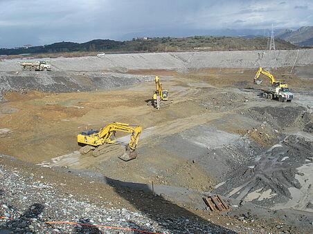 Baugrube Kraftwerk Ashta II