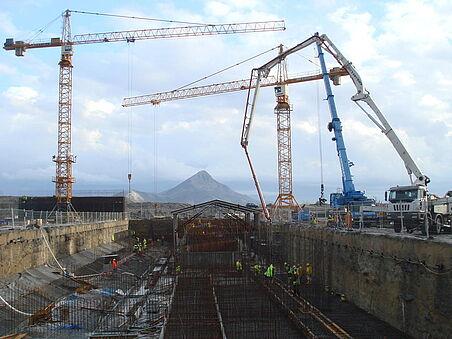 Baugrube Kraftwerk Ashta I